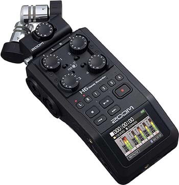 Zoom H6 All Black 6-Track Portable Recorder Review