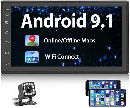 Podofo Android 9.1 Double Din Car Stereo Review